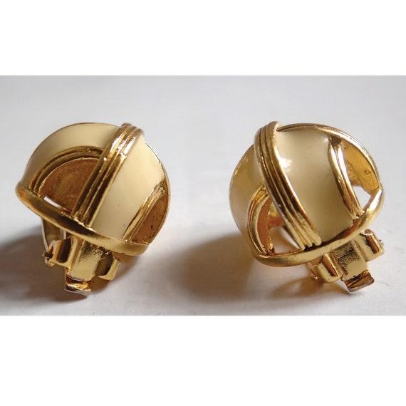 LANVIN EARRINGS; Vintage 80s; Art Deco Style clip… - image 5