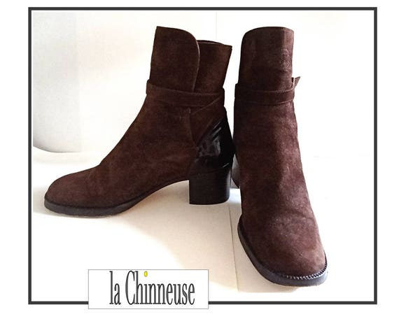 CHANEL Shoes / Boots brown suede Chanel