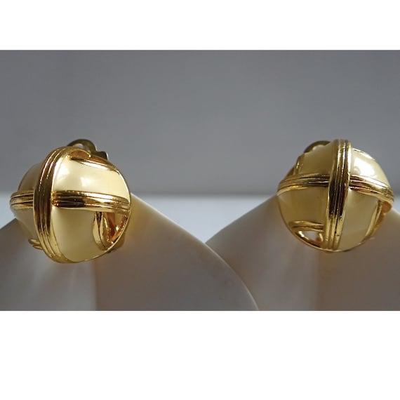 LANVIN EARRINGS; Vintage 80s; Art Deco Style clip… - image 8
