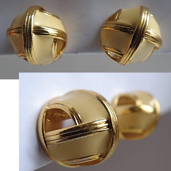 LANVIN EARRINGS; Vintage 80s; Art Deco Style clip… - image 9