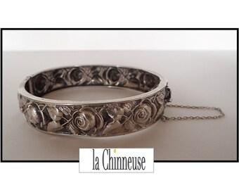 ANTIQUE ART NOUVEAU Bracelet / sterling silver Bracelet / silver open Bangle / vintage Art Nouveau / Vintage Jewelry / Collectible.