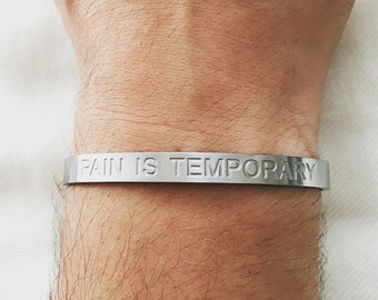 pain is temporary  swag is forever bangle bracelet