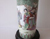 Chinese Porcelain Rare Vase Excellent Details of 3 Wise Men, Early 20th Century Era - Red Markings.