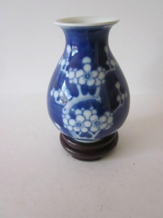 Chinese Porcelain Prunus Vintage Ginger Jar Vase Hand Etsy