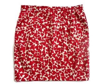 8478e2cfc3 Moschino Skirt, LOVE MOSCHINO, Hearts Moschino Pencil Skirt, Red and White,  Size US 10 / I 46