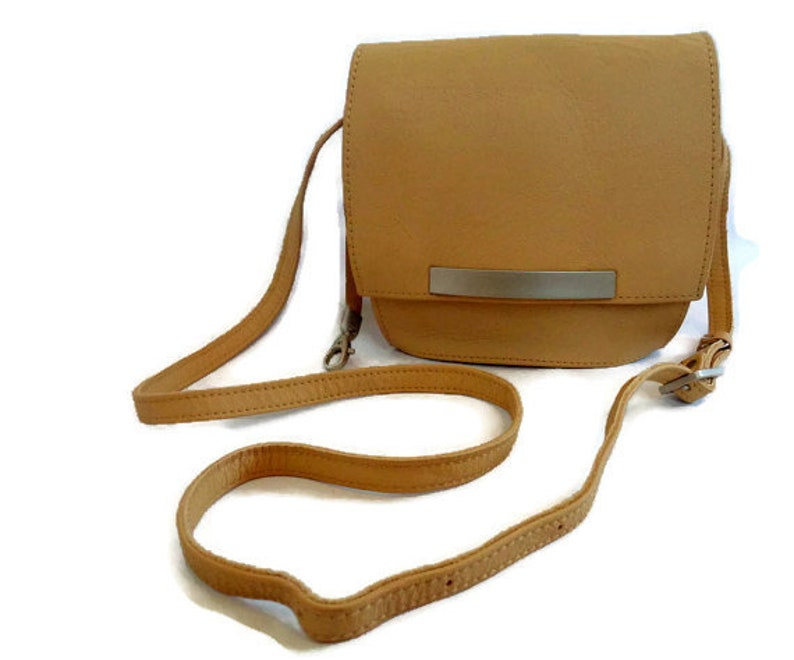 4377c03db3 Genuine Leather Crossbody Bag Tan Shoulder Bag Cover B Made