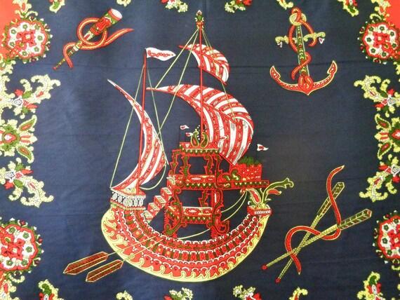 832315de63e23 Nautical Print Scarf Sailing Ship Scarf Scarf for Framing | Etsy