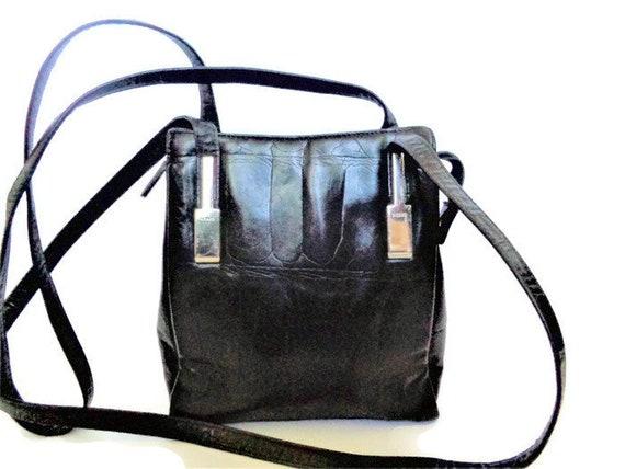 PICARD Allemagne sac, sac à bandoulière Vintage, sac à bandoulière noir, cuir noir ne Shoulder Bag, PICARD sac à main, Reg aucun 1074394