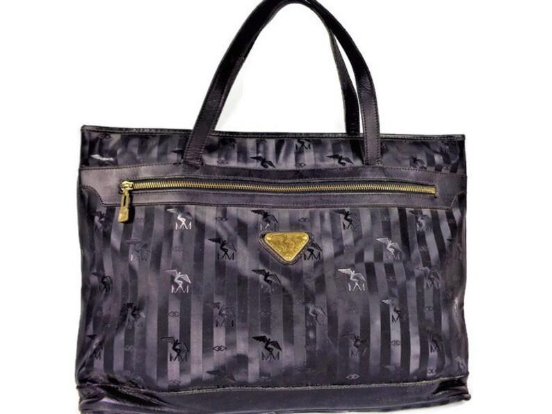 Shoulder BagSwiss Vintage Maison Mollerus Black Tote HandbagSwitzerland ul1TFKJc3