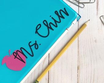 Custom Name Sticker for Teachers