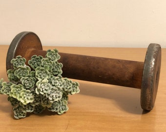 Antique Wooden Spool Etsy
