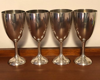 6 Goblets Chalices Wine Glass Charms Pagan Silver Tone Metal