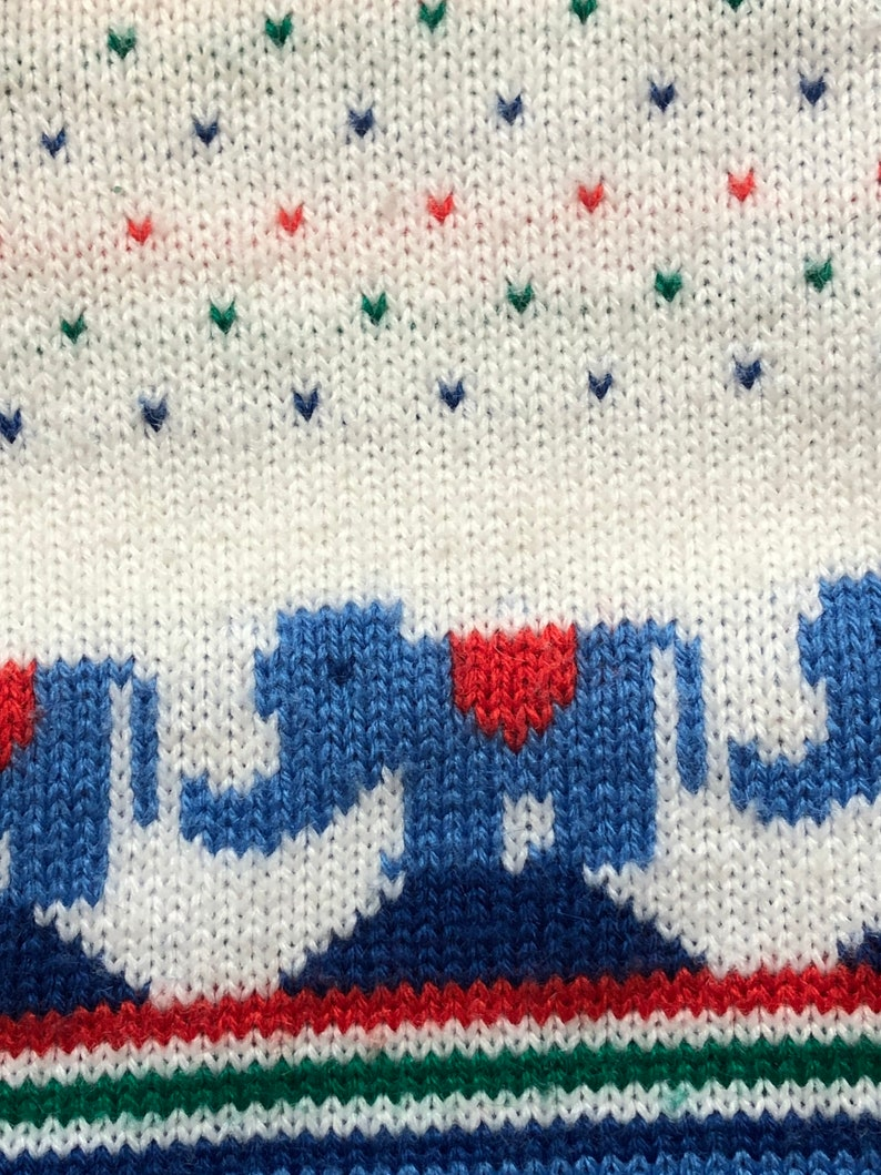 Vintage 1970\u2019s Baby Boy Sweater 3 months infant Elephants hearts retro fashion top shirt