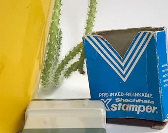 Vintage Shachihata Air Mail Stamper Self Inking Works