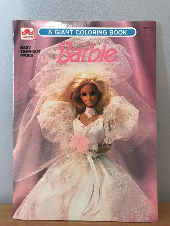 Vintage Unused 1990 Barbie Coloring Book Golden Giant Tear Out Etsy