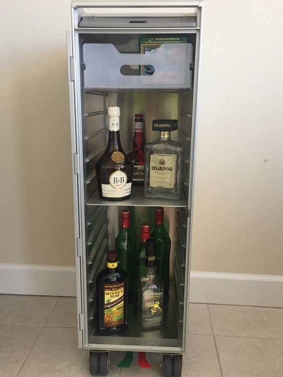 Modern Home Bar SkyCart\u2122 WWII Style Nose Art Design Aviation Inspired Pilot Gift Authentic Airline Trolley Aviation Furniture