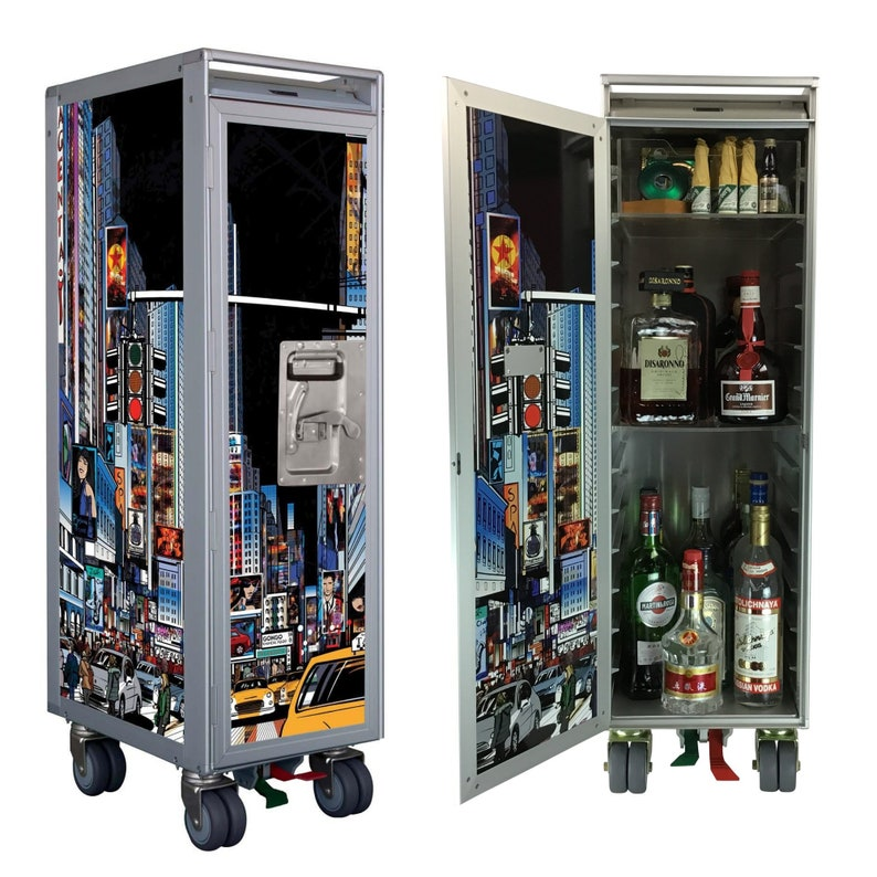 Brand New Airline Trolley | For Use as Home Bar | SkyCart™ Authentic Galley  Cart | Aviation Furniture | Modern Home Bar| Pilot Gift