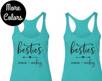 6ef602c904 Besties Shirts, Matching BFF Tank Tops, Best Friend Shirt Set, Bestie Gift  Idea, Gift for Best Friend, Custom Tank Top, Gift for Sisters