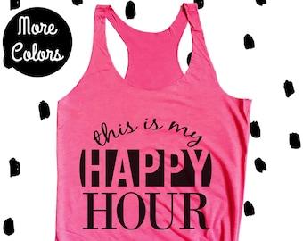 1ab9e272a4ec62 Happy Hour Workout Tank Top