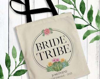 Bride tribe canvas totepersonalized bridesmaid totewedding bag bachelorette partycustom bagbridal totebridesmaid bagbachelorette bag