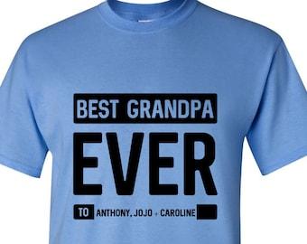 Grandpa Gift, Best Grandpa Ever Shirt, Fathers Day Gift for Grandpa, Best Grandpa Shirt, Personalized Grandpa Gift Idea