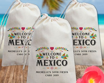 wedding tote Fiesta like there is no manana wedding tote wedding canvas bag mexico wedding favor 100 bags hotel welcome bag