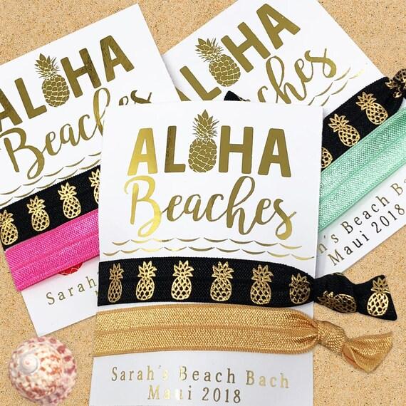 hair accessories Hawaiian Hair accessories Aloha Hair Ties summer party favors beach hair ties hair tie favors