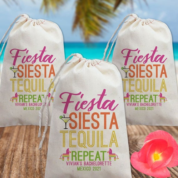 Cabo  Birthday Party Bag Fiesta Siesta Tequila Repeat Mexico Bachelorette Party Tote Bag  Papel Picado Banner Mexico Party  Cancun