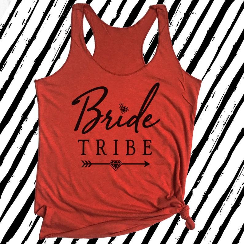 9e147a7e Bride Tank Bride Tribe Tank Tops Matching Bachelorette | Etsy