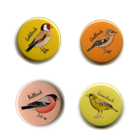 Lesser Redpoll Magnet 38mm Round Button Garden Bird Fridge Magnet