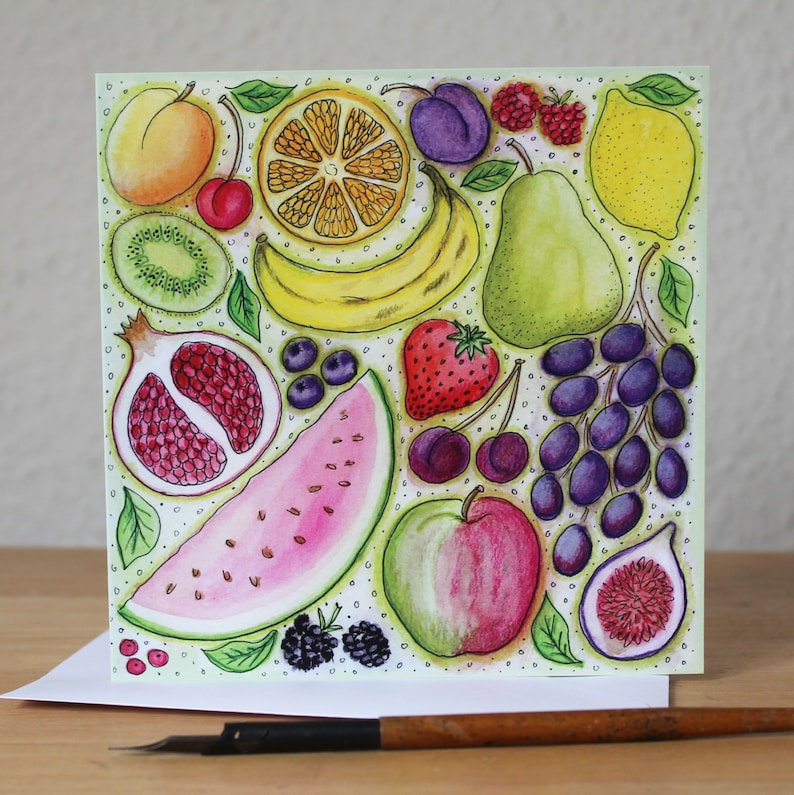 Jugs Blank Square Greetings Card Kitchenalia Get Well Thank You Birthday Note