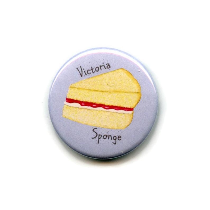 38mm Round Button Baking Cooks Fridge Magnet Victoria Sponge Cake Magnet