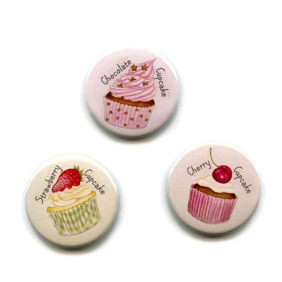 I LOVE CUPCAKES 38 mm Button Badges Pin Backed Gift Cake lovers Sweet Tooth