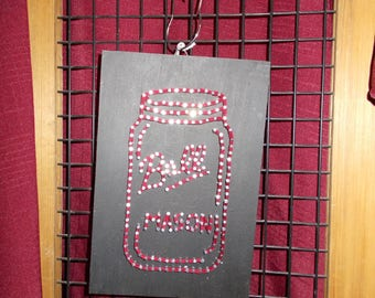 Mason Jar String Nail Art Deco