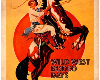 Western Cowgirl Love By Virgil Stephens Three Set 8x10 Wall Decor Print Poster