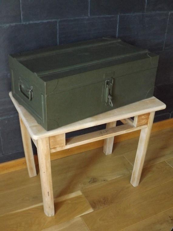 caisse militaire en m tal vintage collection arm e fran aise etsy. Black Bedroom Furniture Sets. Home Design Ideas