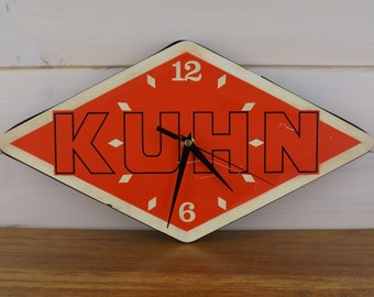 Watch KUHN vintage advertising / watch wall made in France vintage Red