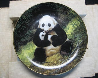 The Panda, Bradford Exchange,signed by W.Nelson, PL# 13411P- ist edition-original box /certificates-1988