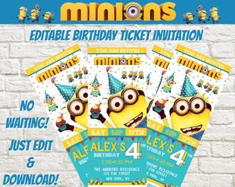 cinema ticket invitation etsy