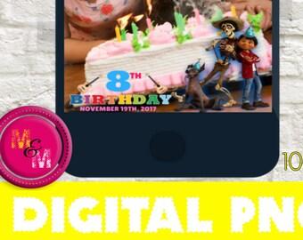 Personalized emoji movie invitation printable emoji movie snapchat geofilter coco movie birthday party snapchat filter coco birthday coco movie geofilter stopboris Choice Image
