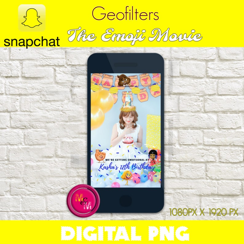 Snapchat Geofilter Emoji Movie Birthday Party Filter
