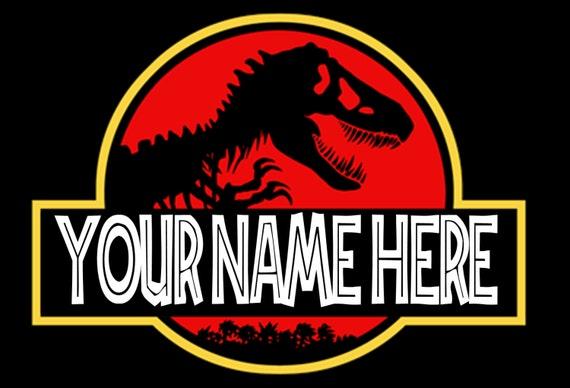 Jurassic Park Personalized Logo Etsy