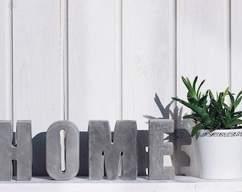 OFFER 4 Large concrete letters. 11.5cm HOME or LOVE or your own