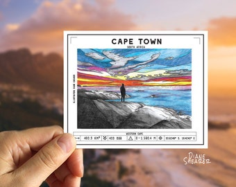 Cape Town  (Printable Magnet/Sticker/Postcard)