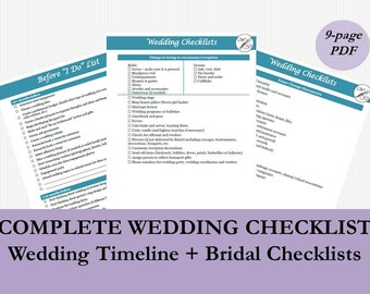 must have wedding checklist that fits in your purse i do to etsy