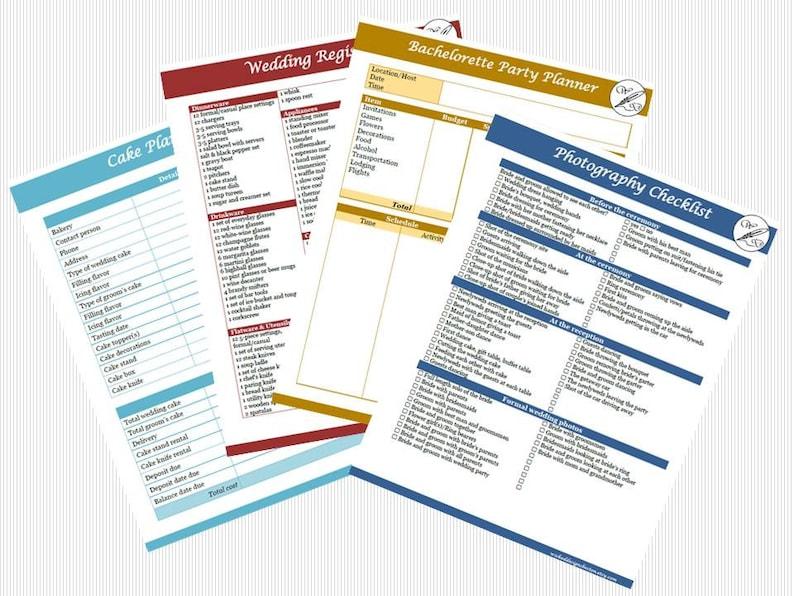 Wedding Planner Instant Download PDF Book Wedding Binder | Etsy