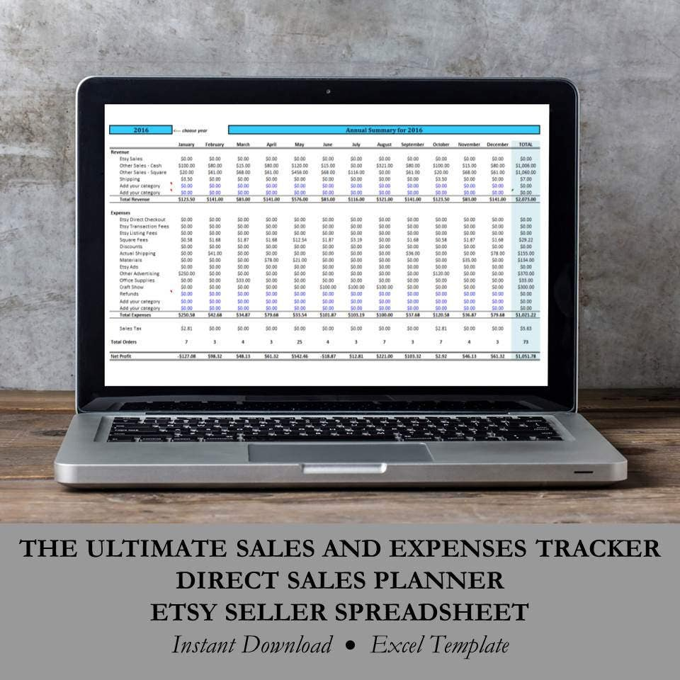 Direct Sales Planner Small Business Excel Template
