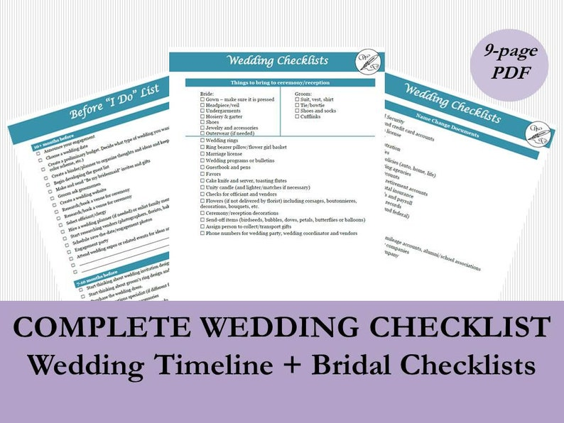 Wedding Checklist Pdf
