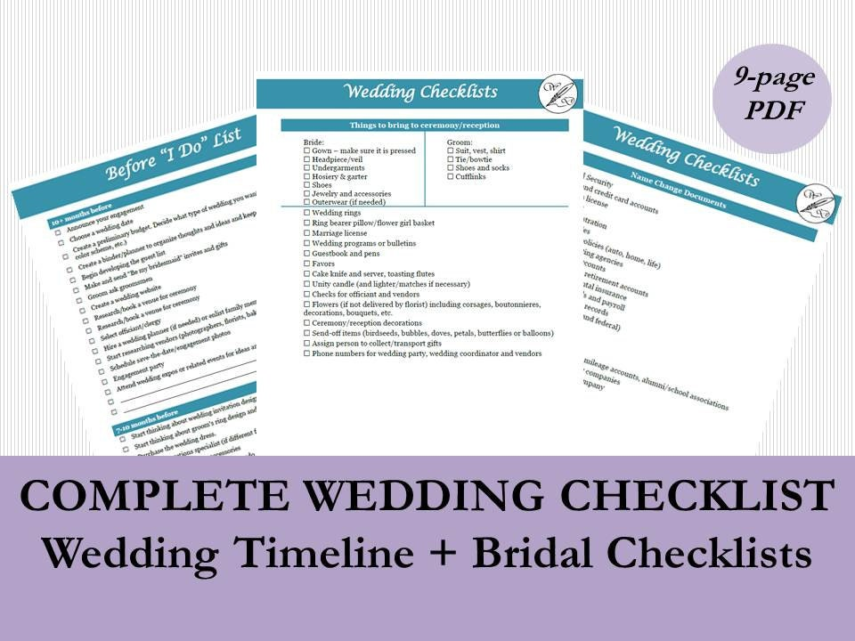 photo about Name Change Checklist Printable named Bridal Listing PDF, Wedding day Timeline Listing, Printable Marriage Towards Do Lists, Every month Checklists for Marriage