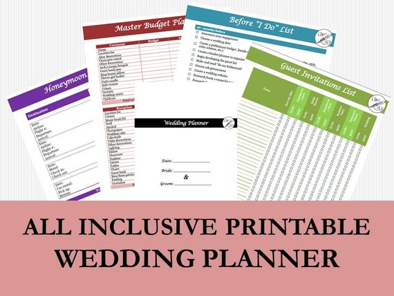 picture about Wedding Planner Book Printable known as Marriage ceremony Planner E-book Printable PDF, Wedding ceremony List and In direction of-Do Creating Package, Marriage ceremony Direct, Wedding ceremony Finances Planner